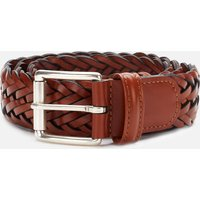 Anderson's Men's Woven Leather Belt - Brown - W32/M