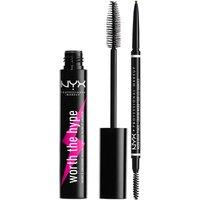 NYX Professional Makeup Micro Eyebrow Pencil and Black Volumizing Mascara Duo (Worth PS18.00)