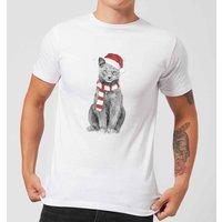 Balazs Solti Xmas Cat Mens T-Shirt - White - XL - White