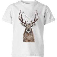 Balazs Solti Xmas Deer Kids' T-Shirt - White - 11-12 Years - White