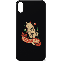 Tobias Fonseca Merry Xmas Cat Phone Case for iPhone and Android - iPhone X - Snap Case - Gloss