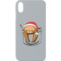 Tobias Fonseca Sloth In A Pocket Xmas Phone Case for iPhone and Android - iPhone 11 Pro Max - Snap C