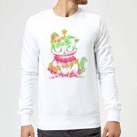 Tobias Fonseca Meow Catmas Lights Sweatshirt - White - L - White