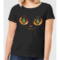 Tobias Fonseca Xmas Cat Attack Women's T-Shirt - Black - S - Black
