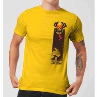 Samurai Jack Samurai Stripe Men's T-Shirt - Yellow - M - Yellow