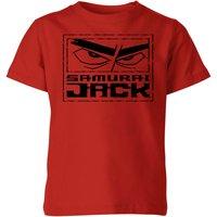 Samurai Jack Stylised Logo Kids' T-Shirt - Red - 3-4 Years - Red