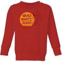Samurai Jack Who Wants Some Kids' Sweatshirt - Red - 9-10 Years - Red