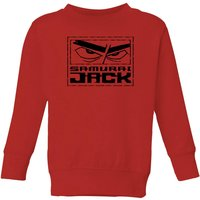 Samurai Jack Stylised Logo Kids' Sweatshirt - Red - 5-6 Years - Red