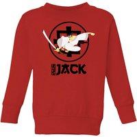 Samurai Jack They Call Me Jack Kids' Sweatshirt - Red - 11-12 Years - Red