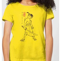 Samurai Jack Vintage Kanji Women's T-Shirt - Yellow - XL - Yellow