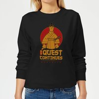 Samurai Jack My Quest Continues Women's Sweatshirt - Black - XL - Black