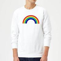 Classic Rainbow Sweatshirt - White - M - White