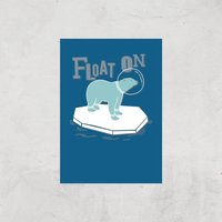 Polar Bear Float On Art Print - A2 - Print Only