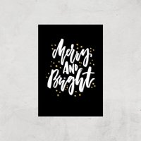 Merry And Bright Art Print - A2 - Print Only