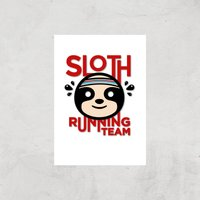 Sloth Running Team Art Print - A2 - Print Only - Sport Gifts