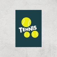 Tennis Balls Art Print - A2 - Print Only - Sport Gifts