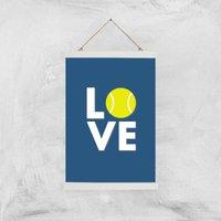Love Tennis Art Print - A3 - Wood Hanger - Sport Gifts