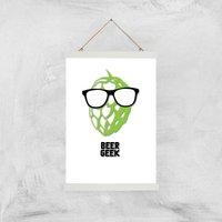 Beer Geek Art Print - A3 - Wood Hanger