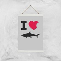 Image of I Love Sharks Art Print - A3 - Wood Hanger
