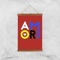 Amor Art Print - A3 - Wood Hanger