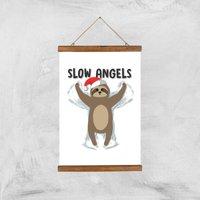 Slow Angels Art Print - A3 - Wood Hanger