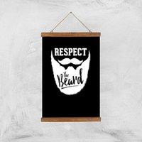 Respect The Beard Art Print - A3 - Wood Hanger