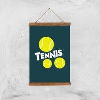 Tennis Balls Art Print - A3 - Wood Hanger - Sport Gifts