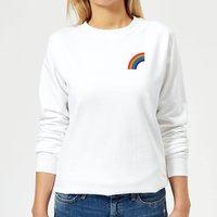 Half Rainbow Women's Sweatshirt - White - XL - White