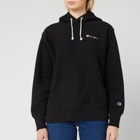 Champion Women's Small Script Hooded Sweatshirt - Black - S