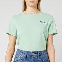 Champion Women's Small Script T-Shirt - Mint Green - L