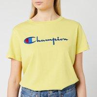 Champion Women's Big Script T-Shirt - Yellow - S