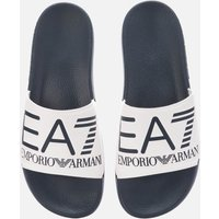 Emporio Armani EA7 Men's Logo Slide Sandals - Blue/White - UK 9