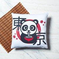 Ramen Panda Floral Square Cushion - 50x50cm - Soft Touch - Floral Gifts