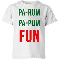 Pa-Rum Pa-Pum Fun Kids' T-Shirt - White - 3-4 Years - White