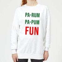Pa-Rum Pa-Pum Fun Women's Sweatshirt - White - L - White