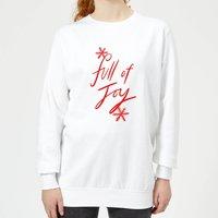 Full Of Joy Women's Sweatshirt - White - XXL - White