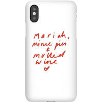 Mariah, Mince Pies & Mulled Wine Phone Case for iPhone and Android - iPhone 6S - Snap Case - Matte
