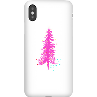 Pink Christmas Tree Phone Case for iPhone and Android - iPhone XS - Snap Case - Matte