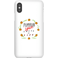 Pumpkin Spice Latte Is Life Phone Case for iPhone and Android - Samsung Note 8 - Snap Case - Matte - Pumpkin Gifts