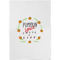 Pumpkin Spice Latte Is Life Cotton Tea Towel - Pumpkin Gifts