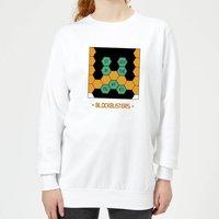 Blockbusters Stuck In The 80's Women's Sweatshirt - White - XXL - White