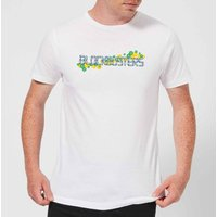 Blockbusters Pattern Logo Men's T-Shirt - White - S - White