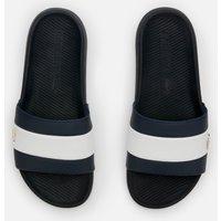 Lacoste Men's Croco Slide 120 Slide Sandals - Navy/White - UK 9