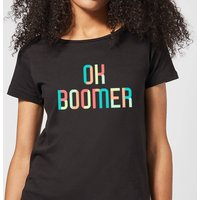 Ok Boomer Colourful Women's T-Shirt - Black - XXL - Black - Black Gifts