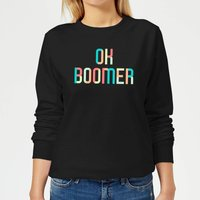 Ok Boomer Colourful Women's Sweatshirt - Black - XS - Black