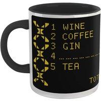Family Fortunes Our Survey Said .... Wine Mug - White/Black
