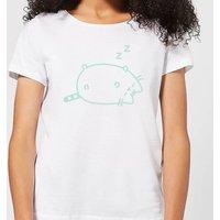 Pusheen Sleeping Women's T-Shirt - White - 4XL - White