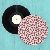 Colourful Cheetah Turntable Slip Mat