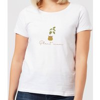 Burnt Orange Plant Mum Women's T-Shirt - White - XXL - White - White Gifts