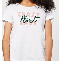 Crazy Plant Lady Script Women's T-Shirt - White - XXL - White - White Gifts